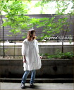 [] Layered ★ cotton linen shirt dress ♪ [much * much]