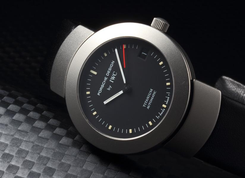 保时捷设计由 iwc 钛自动 ref.3520 黑色表盘