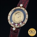 Chopard happy diamond oval Ref.20/4457-2 18kt Yellow Gold Diamond Ruby