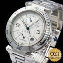 Cartier pasha 38mm GMT power reservation Ref.W31037H3 stainless steel 1999