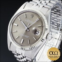 Rolex date just Ref.1601 SS white gold bezel gray dial 1970