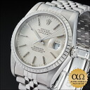 Rolex X Tiffany & Co date just Ref.16220 silver tapestry dial 1989