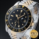 Rolex GMT master Ref.16753 black rock barnacle dial combination SS/YG 1982