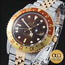 Rolex GMT master Ref.16753 brown rock barnacle dial combination SS/YG 1986