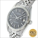 Rolex date just Ref.1601 SS white gold bezel gray dial 1972
