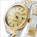 Rolex date just Ref.16253 combination SS/YG yellow gold bezel Thunderbird champagne gold dial 1986