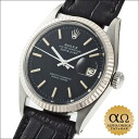 Rolex date just Ref.1601 SS white gold bezel mat black red lam dial 1968