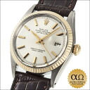 Rolex date just Ref.1601 silver dial combination SS/YG 1969