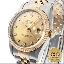 Champagne gold (ten rounds) 1995 with Rolex date just Ref.16233G combination SS/YG diamond