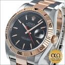 ロレックスデイトジャストターノグラフ Ref.116261 combination SS/PG pink gold bezel black dial 2005