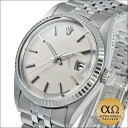 Rolex date just Ref.1601 SS white gold bezel whiteout gray dial 1972