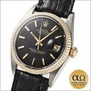 Rolex date just Ref.1601/3 mat black dial combination SS/YG 1966