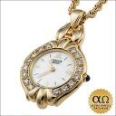 セイコークレドールペンダントウォッチダイヤモンドシェルダイアル Ref.1E70-2B20 Lady's quartz yellow gold 1996