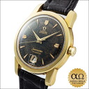 Omega Cima star calendar automatic Ref.2757SC Cal.355 black dial yellow gold around 1954
