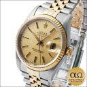 Rolex Datejust Ref.16233 duo SS/YG yellow gold bezel dial champagne gold mosaic-1988 years R-automatic winding