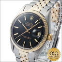Rolex Datejust Ref.1601/3 matte black dial Combi SS/YG 1971, automatic winding