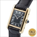 Cartier mast tank SM black dial silver / gold plated 1980s hand winding