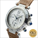 Cartier Pasha chronograph 38 mm silvergyeovset dial Ref.W3103055 2000's SS caseback automatic winding