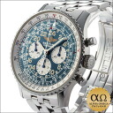 Breitling Navitimer Cosmonaut Ref.A12023(S122C12FBA) Blue Dial transparent back hand winding SS 1998