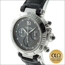 Cartier Pasha chronograph 38 mm Ref.W3107355 grey dial stainless steel caseback 2004 limited