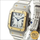 Cartier Santos de Cartier galbee watch XL Ref. W20099C4 SS/YG automatic volume silver op line dial