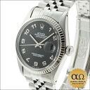 Rolex Datejust SS Ref.16014 white gold bezel black Jubilee dial, 1985