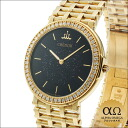 Seiko credor prestige Ref.5A74-0160 purple quartz Onyx dial Yellow Gold Diamond Bezel 1987