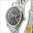 Rolex Datejust SS Ref.1601 white gold bezel black letter gray dial-1968, 2 million-