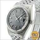 Rolex Datejust SS Ref.1601 white gold bezel dial gray shell bracelet 1969, 24000-