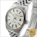 Rolex Datejust SS Ref.16014 white gold bezel silver mosaic dial-1985, 87000-teen