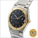 IWC horology company Ingenieur Ref.3521 black dial SS yellow gold base 1993-1996.