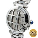 Cartier Pasha 38 mm convex grid Ref.W31059H3 stainless steel 2000's