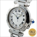 Cartier Pasha 38 mm early 1990s of White Dial stainless steel