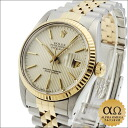 Rolex Datejust REF.16913 duo SS/YG yellow gold bezel silver tapestry dial-1987