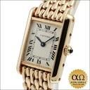 Cartier tank Louis Cartier SM ivory dial yellow gold quartz bracelet