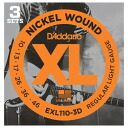 D ' Addario EXL110-3D electric guitar strings-D'Addario electric guitar chords, you get 3 combo pack 10 - 46