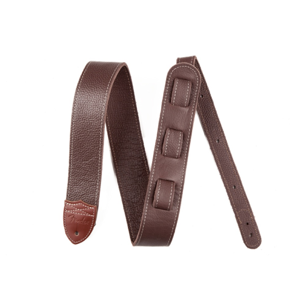 Fender Custom HQ Leather Strap Brown ���������ȥ�å�