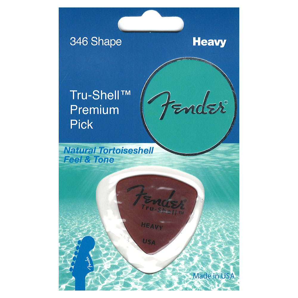 Fender 346 Shape Pick Tru-Shell Heavy �ԥå� 1��