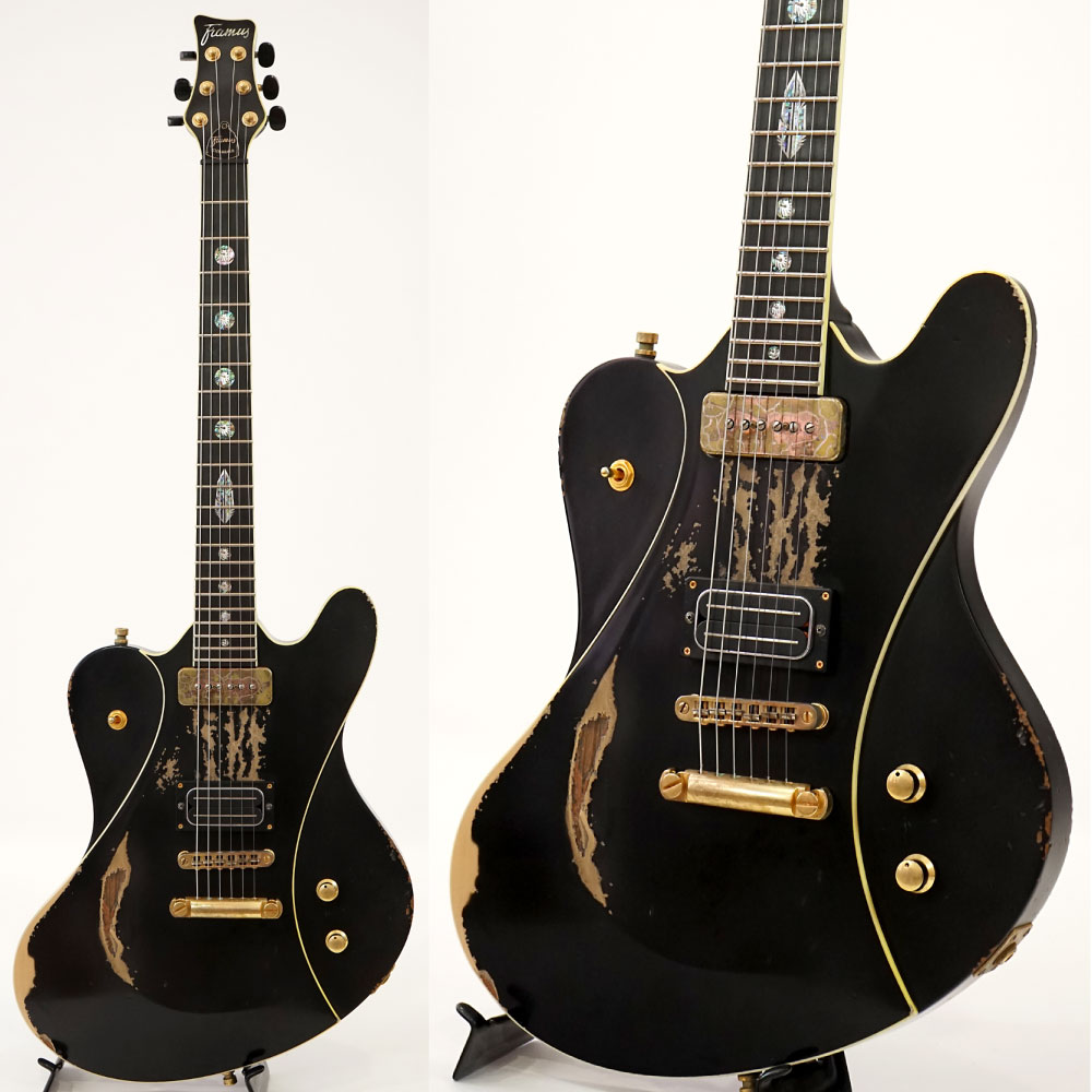 Framus Custom Shop series Idolmaker Stevie Salas Signature Heavy Relic Black HP GD