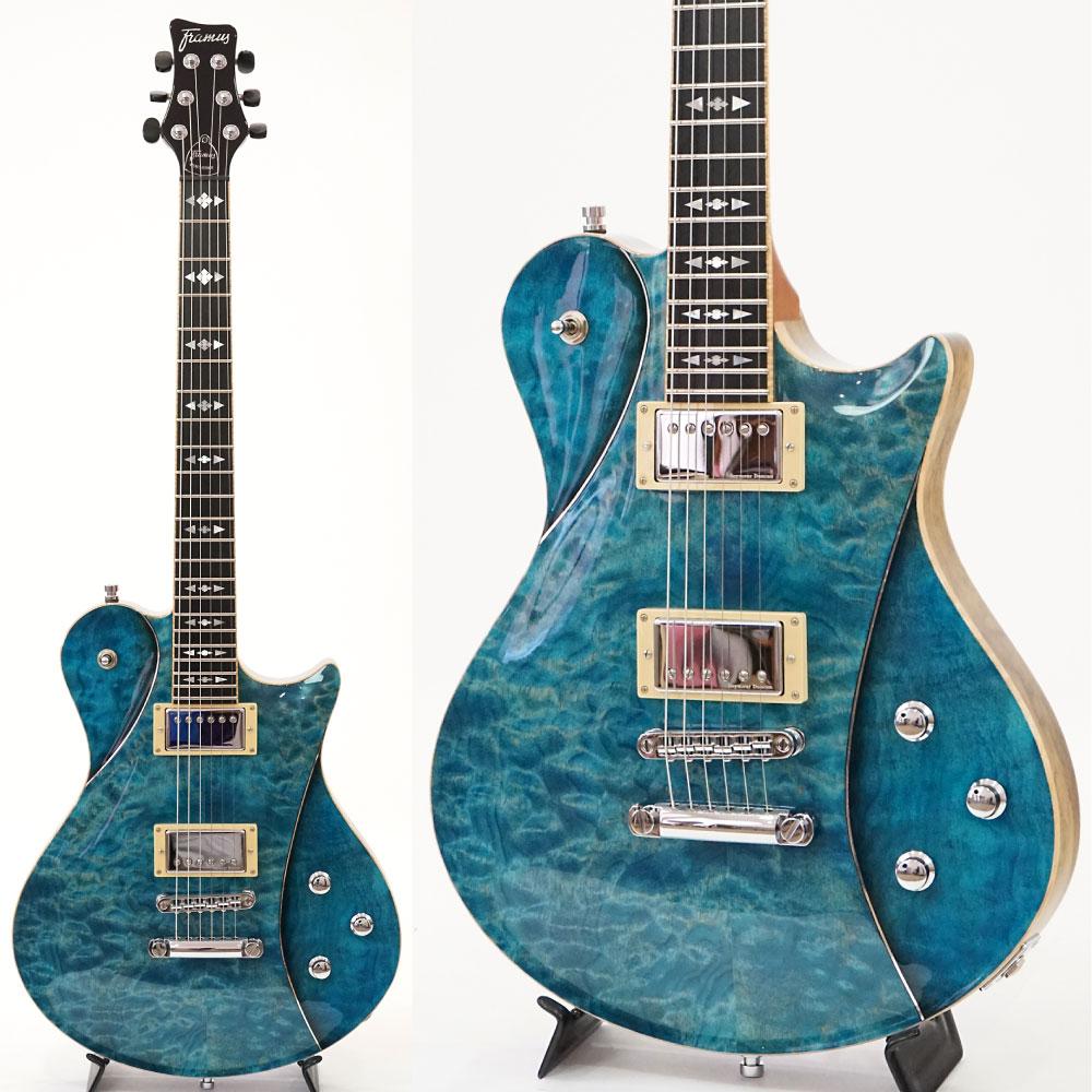 Framus Custom Shop series Panthera II Turquoise Blue THP CHROME