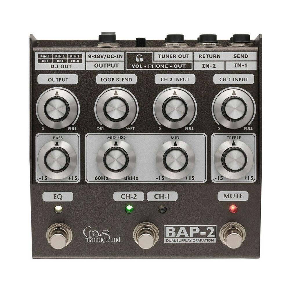 Crews Maniac Sound BAP-2 Bass Foot Preamp �١����ץꥢ���