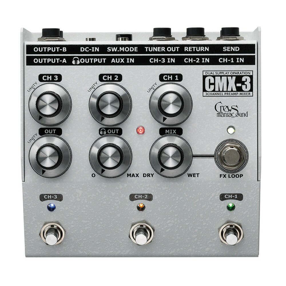 Crews Maniac Sound CMX-3 3CH FOOT MIXER 3�����ͥ�եåȥߥ�����