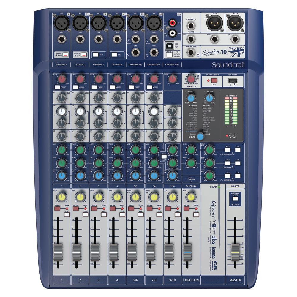 Soundcraft Signature 10 10ch 6�ޥ�������ץå� ���ʥ?�ߥ�����