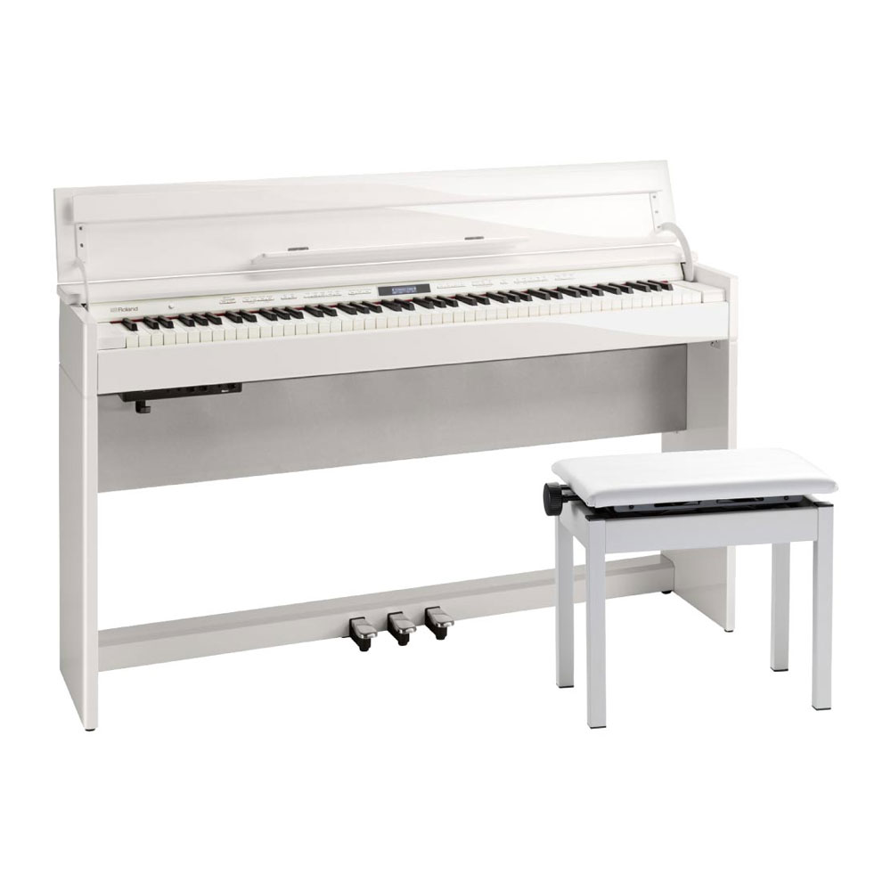 Roland DP603-PWS Digital Piano 白塗鏡面艶出し塗装仕上げ デジタルピアノ 専用高低自在椅子付き