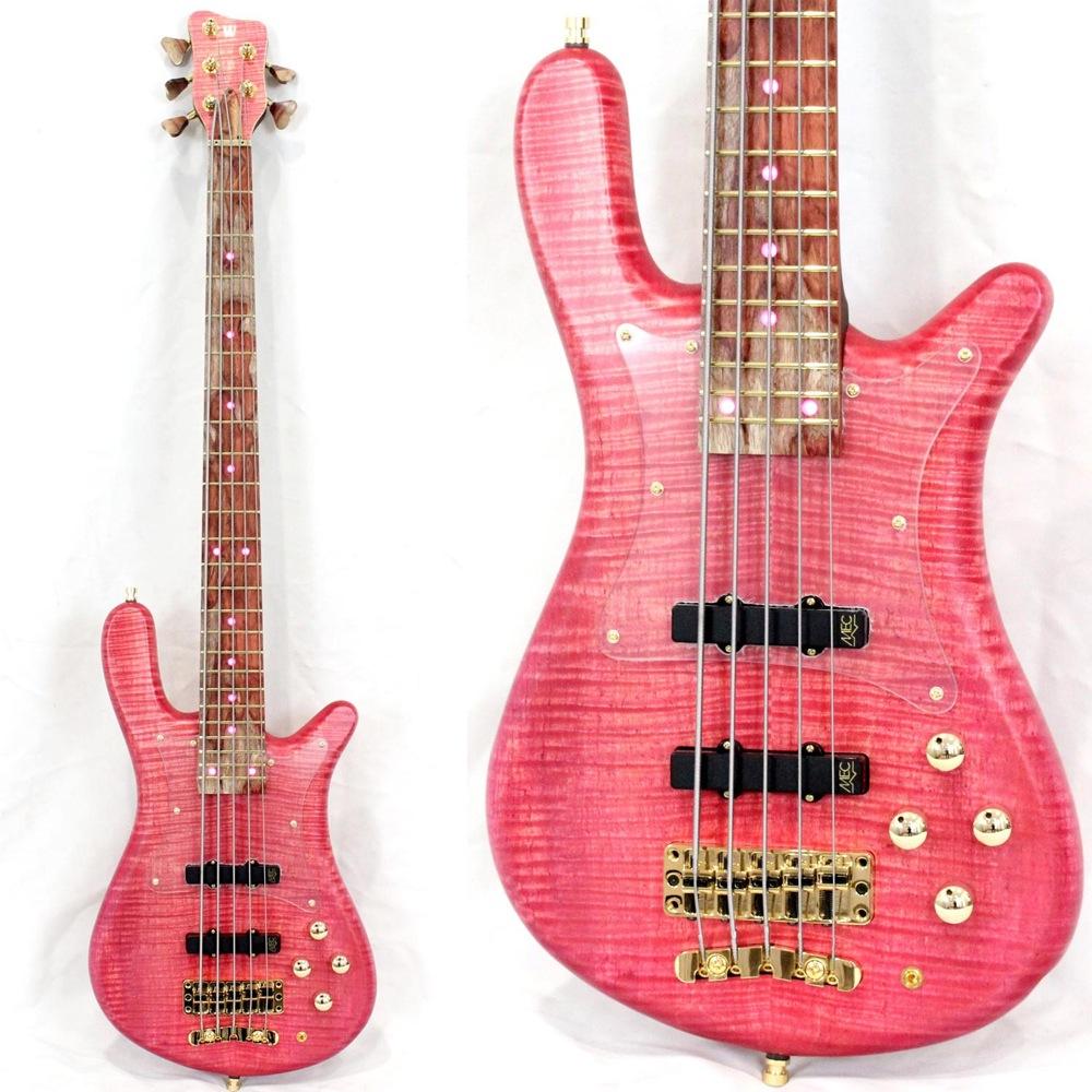 WARWICK Custom Shop Streamer LX 5-string Bleached Rose Transparent Satin w/acryl pickuard 5弦エレキベース