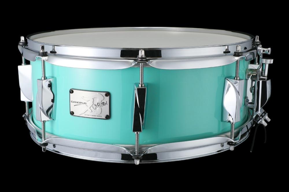CANOPUS JSB-1455 刃 II Birch Snare Drum Surf Green LQ スネアドラム