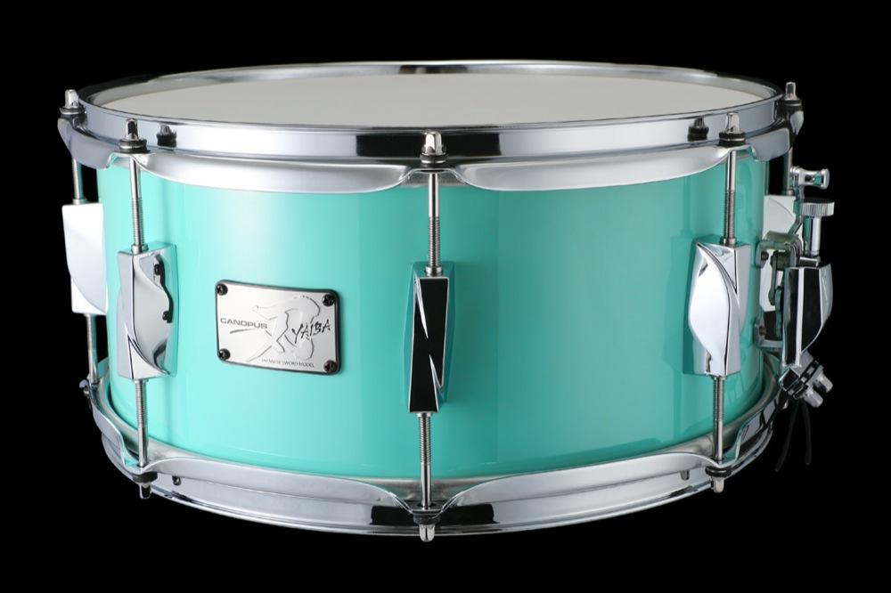 CANOPUS JSB-1465 刃 II Birch Snare Drum Surf Green LQ スネアドラム