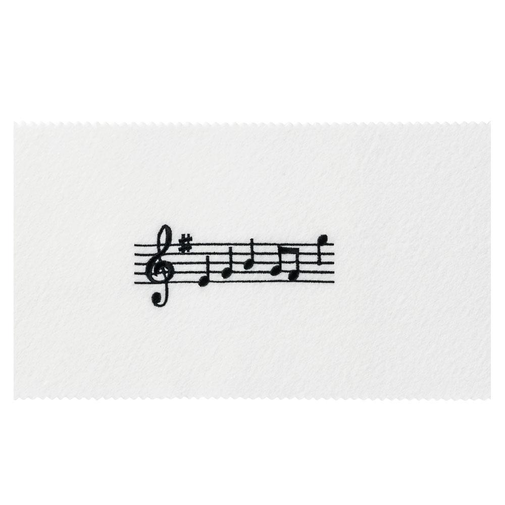 NAKANO CO120KOPWBL ピアノキーカバー 音符 ホワイトブラック