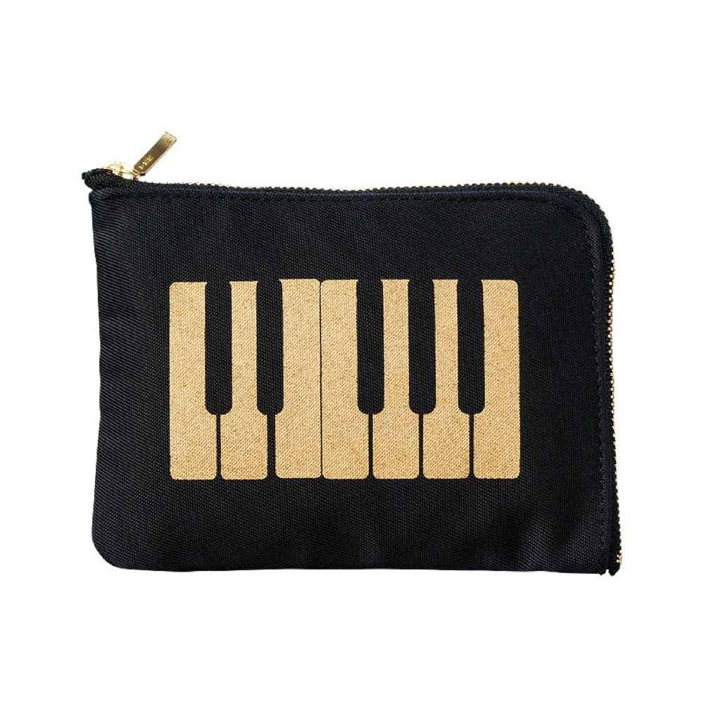 NAKANO BG120PKBBG ティッシュケース ポーチ 鍵盤 ブラックゴールド