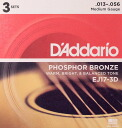 Great guitar chord D ' Addario EJ17-3D acoustic guitar chords / 3 combo pack D'Addario 3 set enters in one package